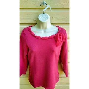 Ann Taylor Pink Pullover Sweater Size XS